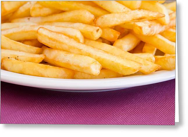 French Fries Greeting Card by Tom Gowanlock