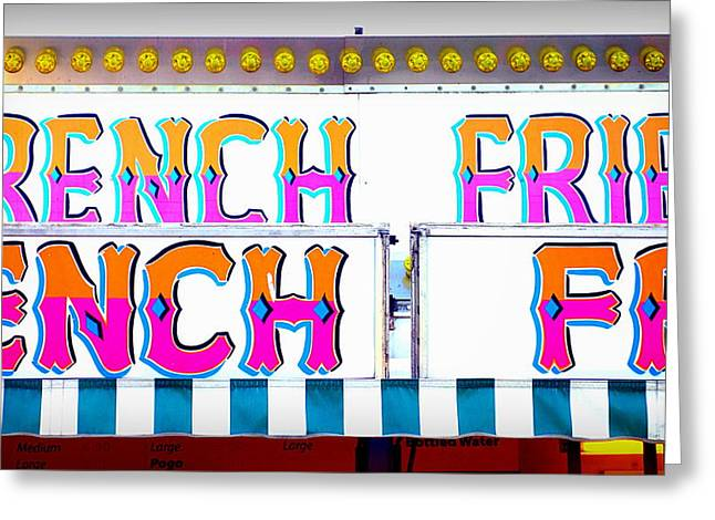 French Fries Greeting Card by Valentino Visentini