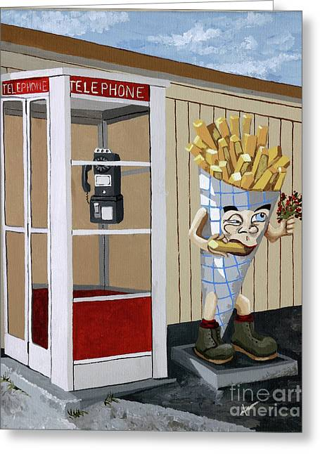 French Fry Guy Greeting Card by Jennifer  Donald