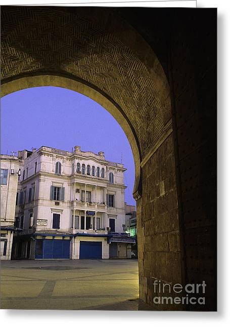 French Gate Tunis Tunisia Greeting Card