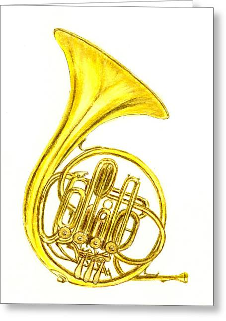 French Horn Greeting Card