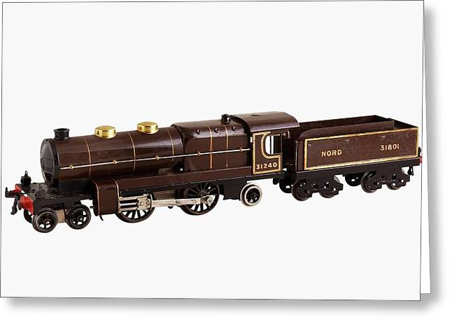 French Hornby 4-4-2 Nord Locomotive Greeting Card