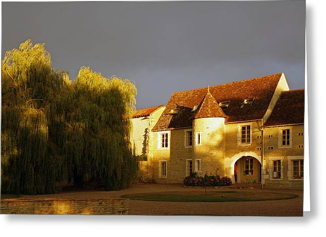 French House At Sunset Greeting Card