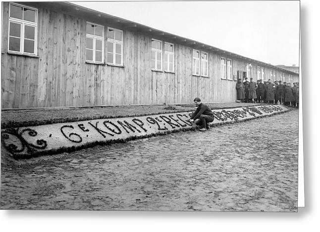 French In Pow Camp Greeting Card