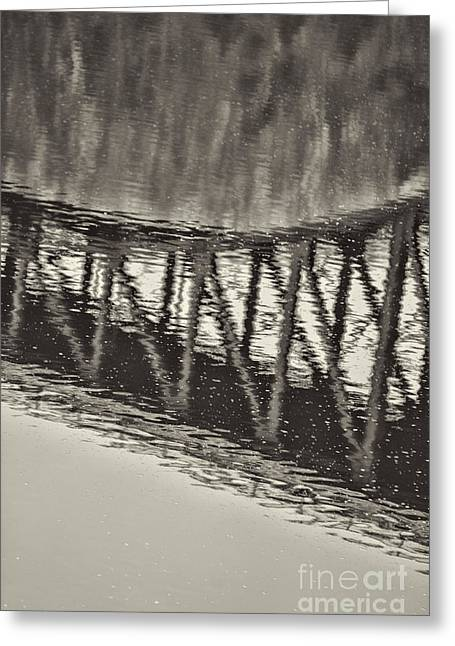 French King Bridge Bridge Greeting Card by HD Connelly