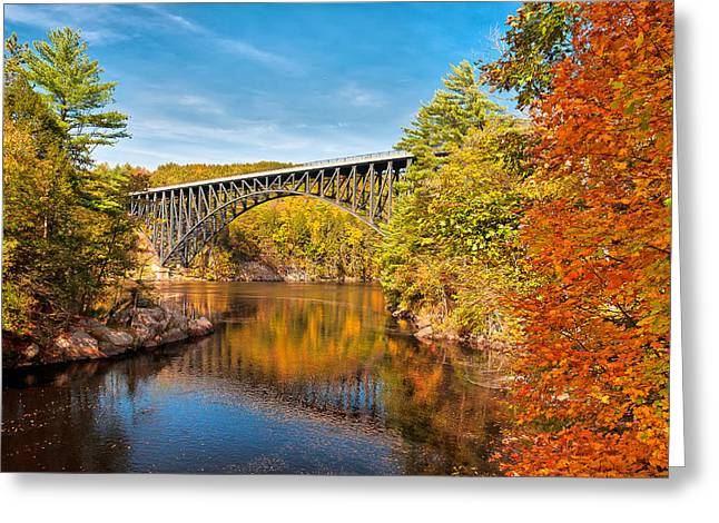 French King Bridge In Autumn Greeting Card
