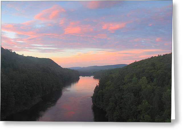 French King Gorge Connecticut River Sunset Greeting Card by John Burk