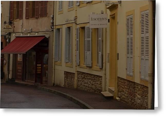 French Laneway Greeting Card