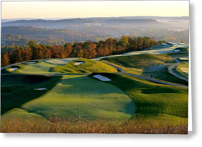 French Lick Resort Dye Course Greeting Card by Ken  May