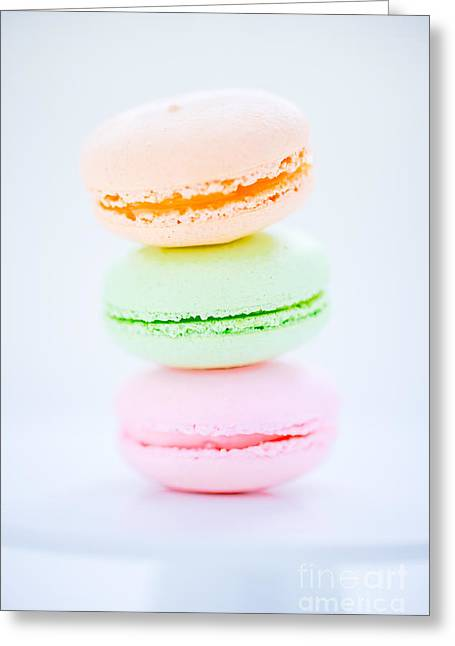 French  Macarons Cookies Greeting Card by Edward Fielding