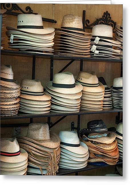 French Market Hats Greeting Card