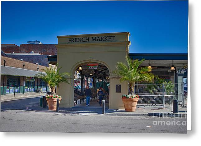 French Market Greeting Card by Kay Pickens