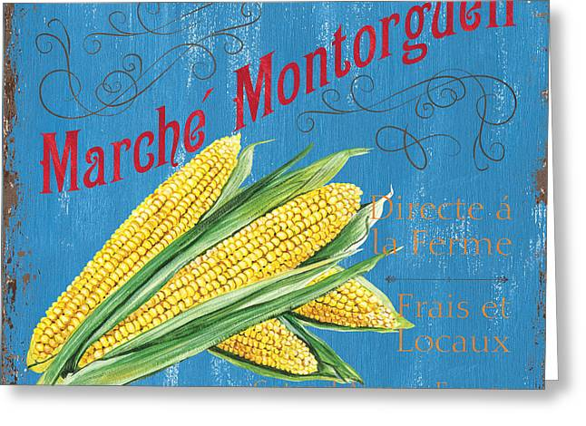 French Market Sign 2 Greeting Card by Debbie DeWitt