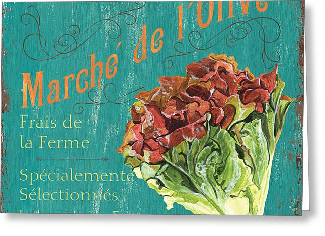 French Market Sign 3 Greeting Card by Debbie DeWitt