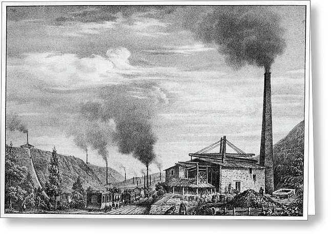 French Mining Railway Greeting Card