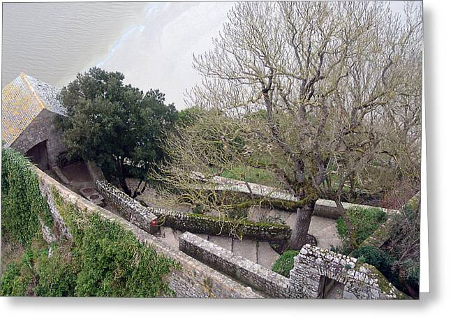 French Monastery Fortification  Greeting Card