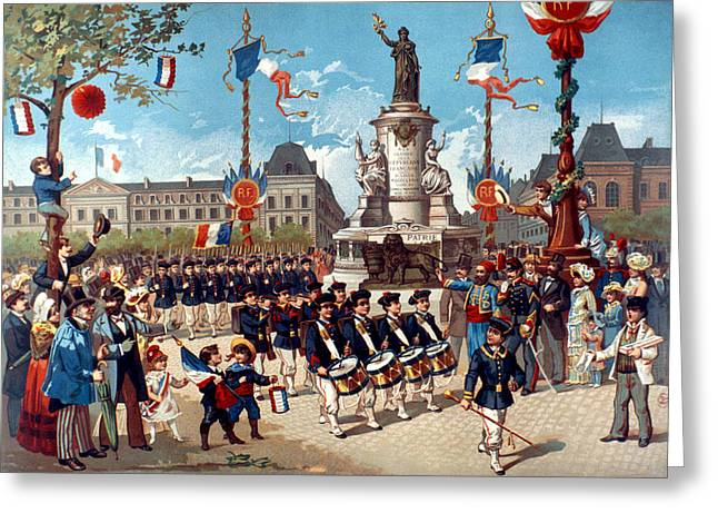 French Parade, 1883 Greeting Card