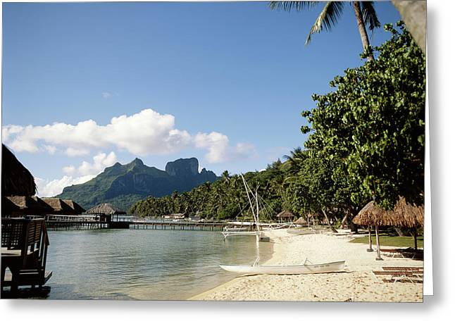 French Polynesia, Tahiti, View Greeting Card by Douglas Peebles