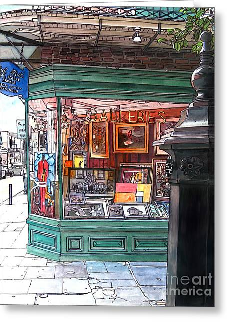 French Quarter Art Gallery Greeting Card by John Boles