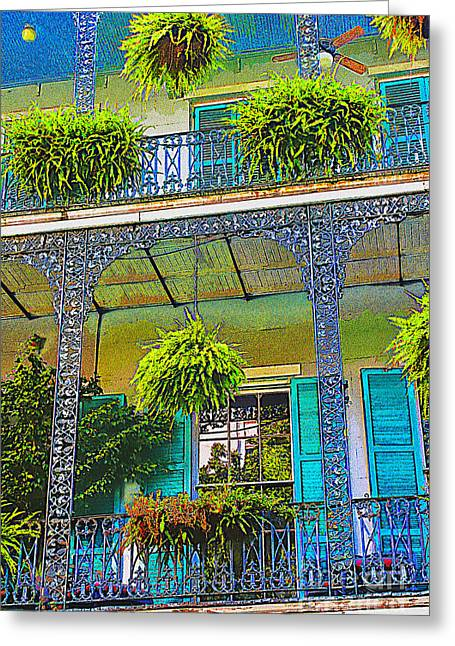 French Quarter Balcony 1 Greeting Card by David Doucot