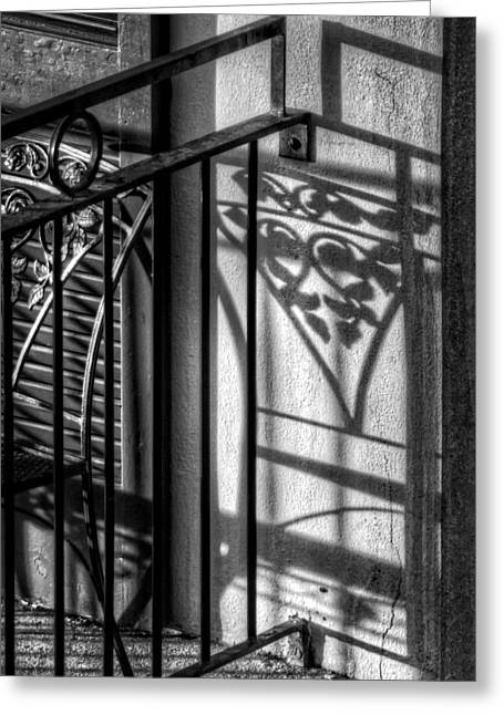 French Quarter Balcony Shadow Greeting Card