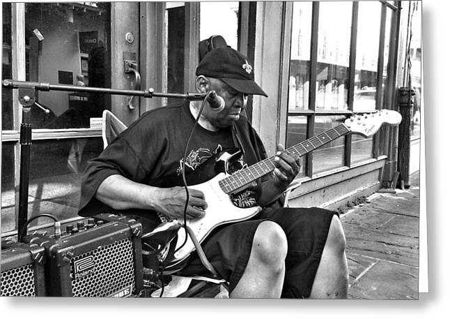 French Quarter Blues Greeting Card by Mike Barch