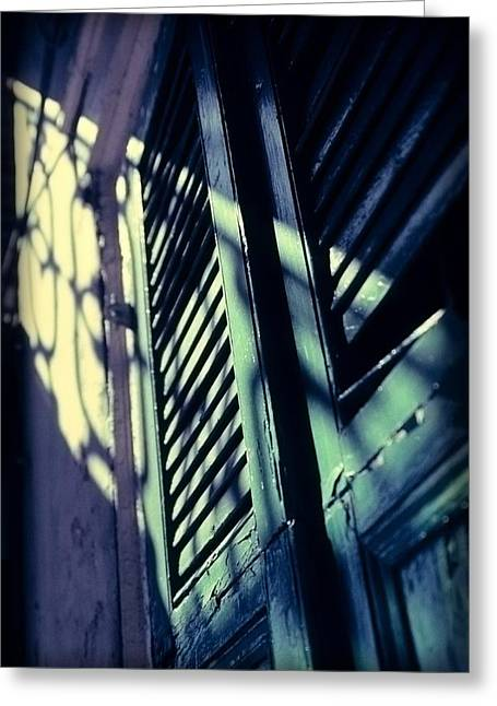 French Quarter Doors Greeting Card