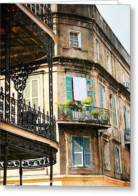 French Quarter Morning Greeting Card by Heather Green