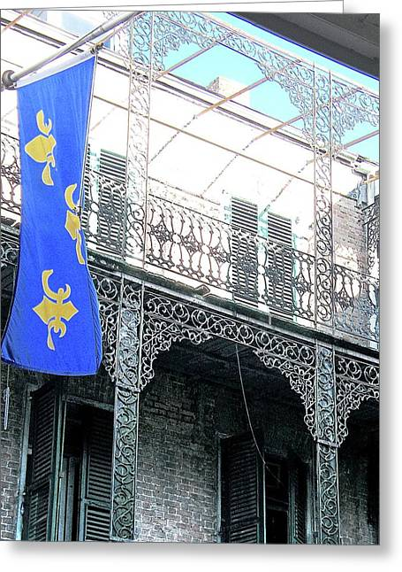 Greeting Card featuring the photograph French Quarter Nola by Lizi Beard-Ward