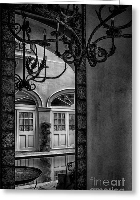 French Quarter Reflection Greeting Card