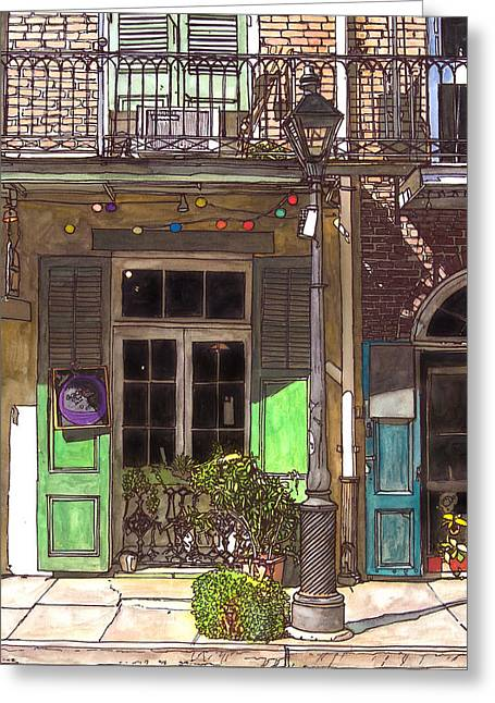 French Quarter Shop 369 Greeting Card by John Boles