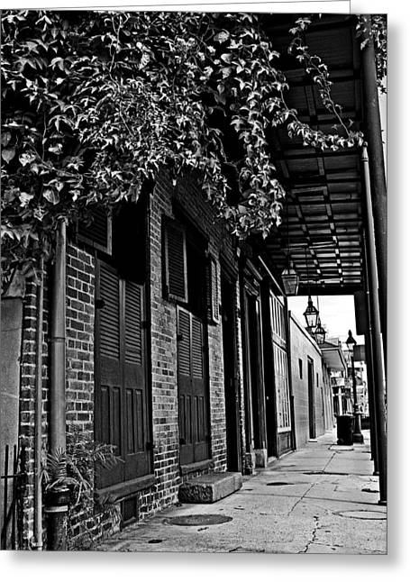 French Quarter Sidewalk Greeting Card