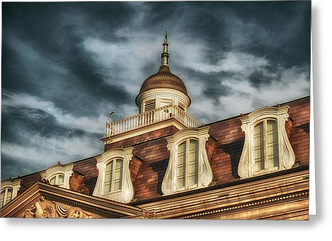 French Quarter Skies Greeting Card