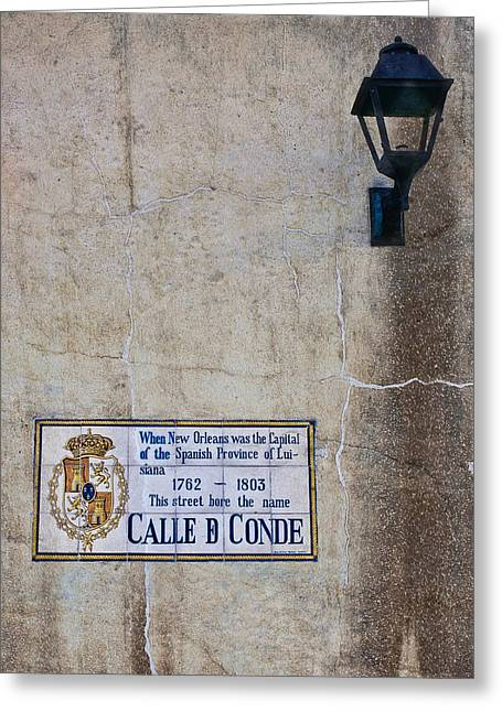 French Quarter Street Sign Greeting Card