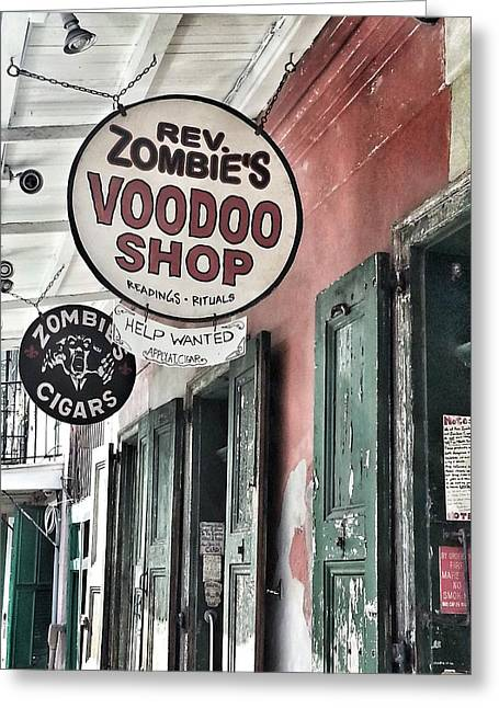 French Quarter Voodoo Shop Greeting Card by Mike Barch