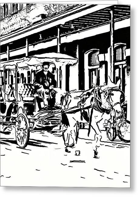 French Quarter Wheels 2 Greeting Card by Steve Harrington