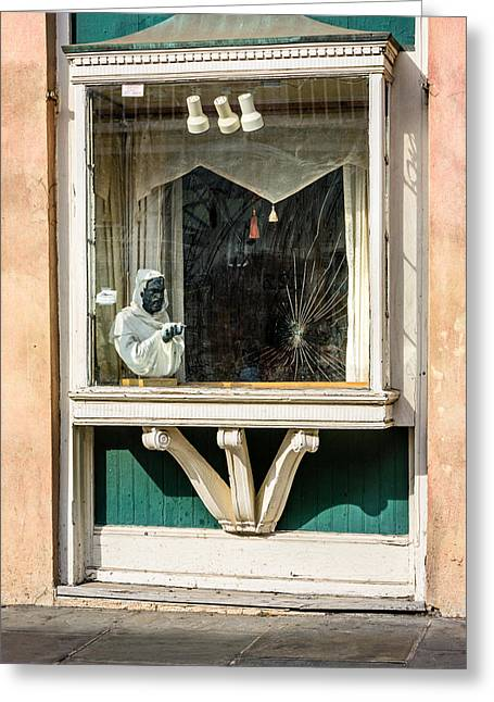 French Quarter Window Display Greeting Card by Steve Harrington