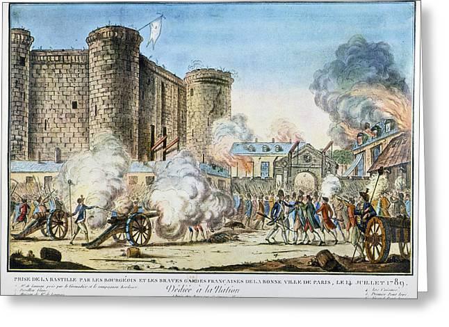 French Revolution Bastille Greeting Card