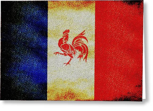 French Rooster Greeting Card by Jared Johnson