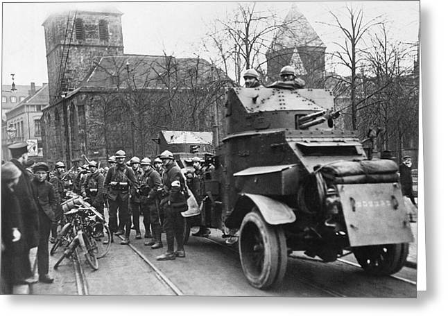 French Soldiers Occupy Essen Greeting Card