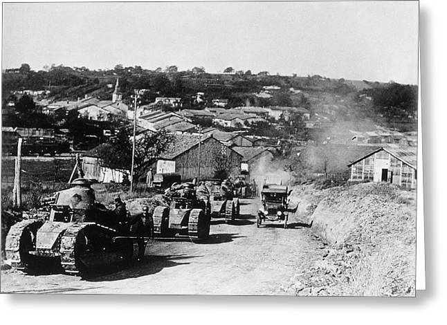 French Tanks Greeting Card by Library Of Congress/science Photo Library