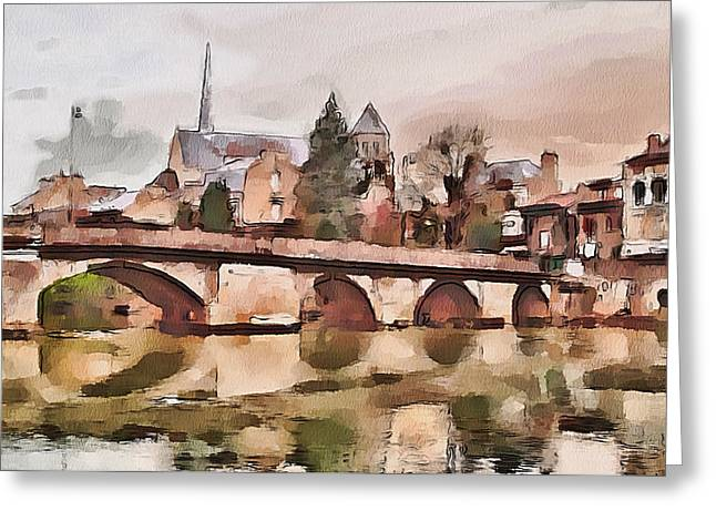 French Town  Greeting Card