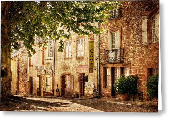 French Village Street / Meyssac Greeting Card