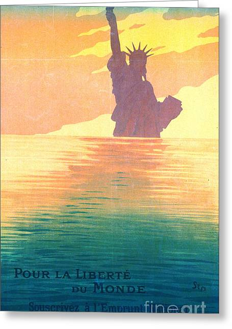 French War Poster 1917 Greeting Card by Padre Art