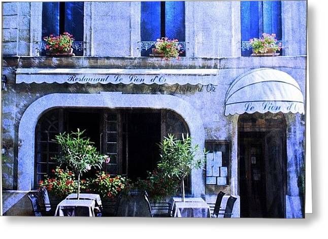 #frenchhotel #frenchrestaurant Greeting Card