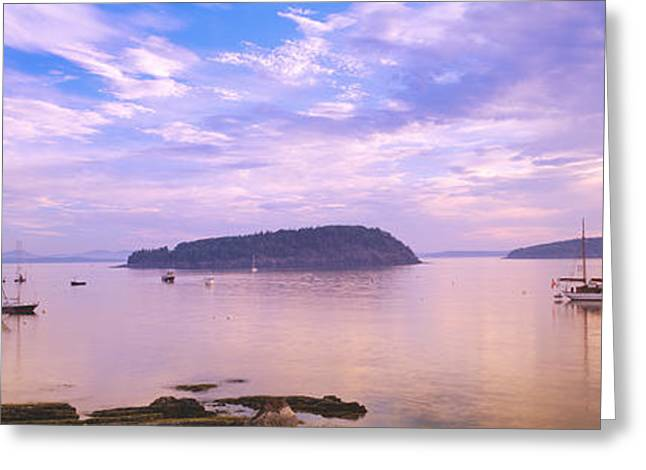 Frenchman Bay, Bar Harbor, Maine, Usa Greeting Card by Panoramic Images