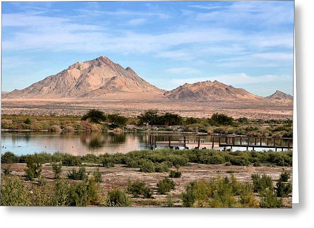 Frenchman Mountain And Oasis Greeting Card by Janelle Losoff