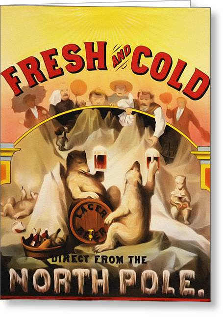 Fresh And Cold Direct From The North Pole Greeting Card by Bill Cannon