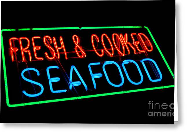 Fresh And Cooked Seafood Greeting Card by Olivier Le Queinec