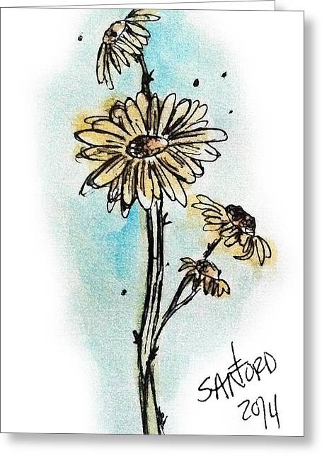 Fresh As A Daisy Greeting Card by Amanda  Sanford